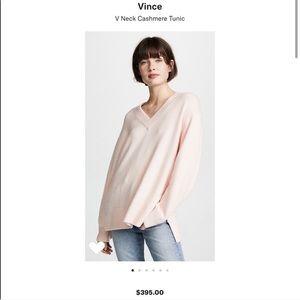 Vince V-neck cashmere sweater/tunic